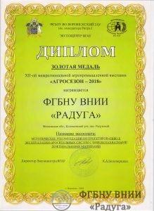 Диплом Зол.медаль