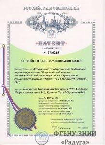 Патент № 2716215 «Устройство для заравнивания колеи»